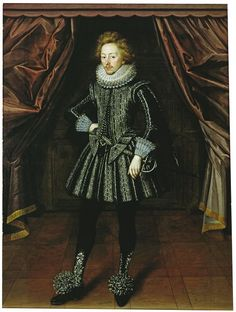 Portrait of Dudley, the 3rd Baron North by an unknown artist, oil on canvas, c. 1615, English.