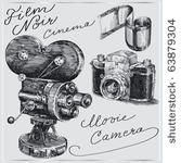 Retro photo camera - Free Vector Art