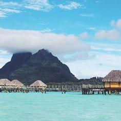 Instagram's the pumpkinspot transports us to Bora Bora.