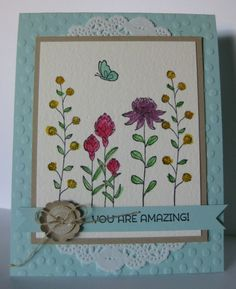 Amazing Flowering Fields Card by Barb Mann - Cards and Paper Crafts at Splitcoaststampers