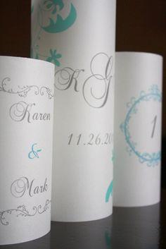 Centerpiece Luminaries for Wedding Reception  by thepaperynook, $8.95
