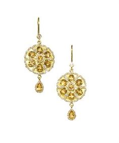 """The """"Judi"""" earring with citrine by Katie Decker - love the warm citrine color!!!"""
