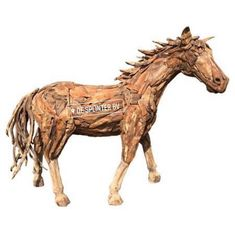 Suppliers of a spectacular life-size driftwood horse, small horse sculpture and driftwood horse heads. Driftwood Furniture, Antique Furniture, Horse Sculpture, Animal Sculptures, Two Horses, Wood Ornaments, Luxury Decor, Horse Head, Better Homes And Gardens