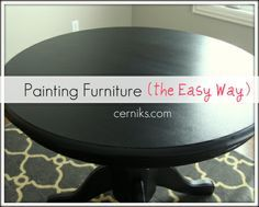 Painting furniture - for our table downstairs!