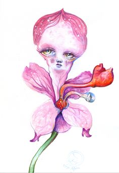 Botanicuties Specimen no.6- original artwork by Angie Mason : Angie Mason Art Shop