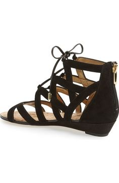 Black gladiator sandals with one inch heel - $99.95