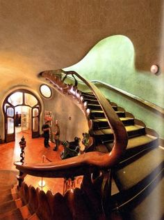 Cassa  Batlló  interior  Arquitecto Gaudí   Cataluña  