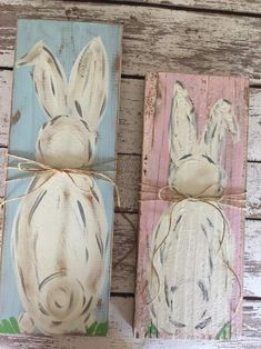 Rabbit Crafts, Bunny Crafts, Easter Crafts, Diy Easter Decorations, Decoration Table, Easter Art, Easter Bunny, Arte Pallet, Happy Easter Banner