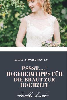 10 Geheimtipps für die Braut zur Hochzeit