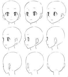 Pin de haille gentry en anime en 2019 art sketches, drawings y manga drawin Drawing Heads, Drawing Base, Anime Drawings Sketches, Anime Sketch, Pencil Drawings, Drawing Reference Poses, Drawing Skills, Drawing Tips, Manga Drawing Tutorials