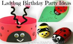 Ladybug Birthday Party | Parties for Girls | Kids Parties 1-2-3