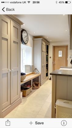 COLOUR - A shining example of how the once overlooked boot room is now taking pride of residence in the modern country home! Mudroom Laundry Room, Laundry Room Design, Bench Mudroom, Mudroom Cabinets, Orangerie Extension, Boot Room Utility, Utility Room Designs, Utility Room Ideas, Style Anglais