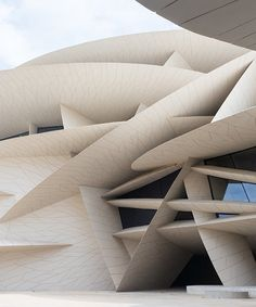atelier jean nouvel's national museum of qatar opens to public Jean Nouvel, Kate Middleton, Vintage House Plans, Timber Structure, Good House, Facade Design, Desert Rose, National Museum, Interior Architecture