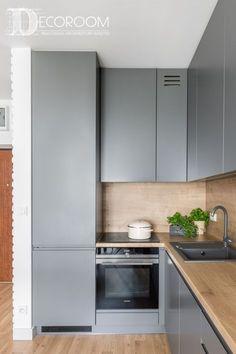 60 Nice Kitchen Layout Design and Lovely Lighting Ideas New Kitchen Interior, Kitchen Room Design, Kitchen Cabinet Design, Modern Kitchen Design, Kitchen Layout, Home Decor Kitchen, Home Kitchens, Nice Kitchen, Small Modern Kitchens
