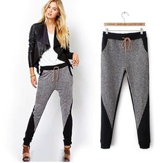 European Style Winter New Women Harem Pants Sports Sweatpants Cotton Trousers #OEM #CasualPants