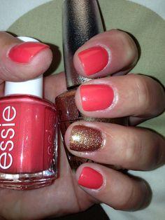 "Essie ""Sunday Funday"" and OPI ""DS Illuminate"" #summer #nails"