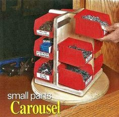 Small Parts Carousel Plan - Workshop Solutions Plans, Tips and Tricks | WoodArchivist.com