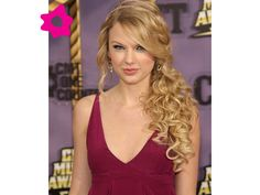 Peinado de novia en cola de caballo de lado como Taylor Swift