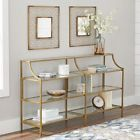 Better Homes & Gardens Nola Console Table Gold Open Shelving Tempered Glass for sale online My Living Room, Living Room Furniture, Accent Furniture, Furniture Ideas, Slim Console Table, Table Desk, Sofa Tables, Console Table Styling, Entryway Console