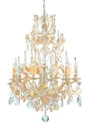 {add aquamarine crystals}  to shell chandelier $4,171.00