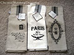 Frenchy kitchen towels!  MUST HAVE!!!