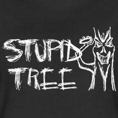Stupid Tree Disc Golf Shirt - Women's Fitted Shirt - White Print