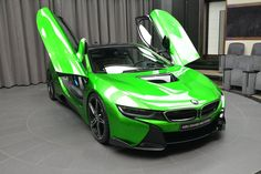 This Lava Green BMW i8 was fitted with AC Schnitzer parts and guess where it was delivered. That's right, Abu Dhabi, of course!