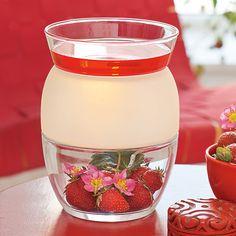 ScentGlow™ – Elektrische Duftlampe Clearly Creative von PartyLite,  Glas mit persönlicher Note. H: 15 cm, Ø 11 cm. Mit Ein/Aus-Schalter. Das flammenlose Dufterlebnis! Einfach 2–4 Melts in die Schale legen, einschalten und angenehmen, lang anhaltenden Duft genießen.