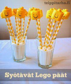 Vaahtokarkkisuklaa legopäät - Teippitarhan blogi