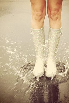 Wear to Stand Out ❤'s Rain Boots Splashing in Puddles!  #DLLetItRain