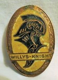 Willys Knight Automobile Radiator Badge   Willys Jeep   Pinterest