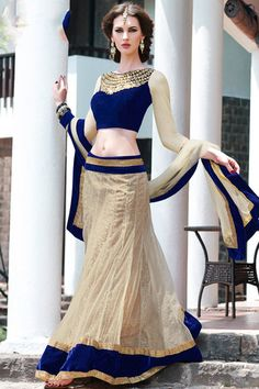 Buy Off White Net Lehenga Choli with Dupatta online in India at best price.A perfect combination of elegance and glamour this off white net lehenga embroidered with zari, dori, Patiala, Churidar, Salwar Kameez, Salwar Suits, Kurti, Net Lehenga, Anarkali, Blue Lehenga, Lehenga Style