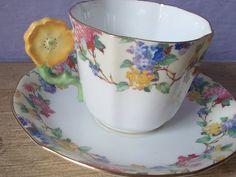 Vintage 1920 Aynsley de flores juego de taza