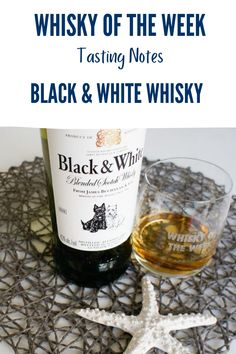 Review and Tasting notes for the Black & White Whisky Blended Whisky, Whisky Tasting, Malt Whisky, Scotland, Notes, Drink, Black And White, Food, Beverages