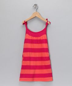 Take a look at this Fuchsia & Orange Stripe Dress - Infant, Toddler & Girls by Gingham Girl: Spring Dresses on #zulily today!