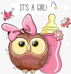 Illustration about Cute Cartoon Owl girl with feeding bottle. Illustration of girl, illustrations, carved - 75993965 Cute Cartoon Boy, Kitten Cartoon, Cartoon Monkey, Owl Cartoon, Cute Cartoon Animals, Baby Cartoon, Cartoon Owl Drawing, Owl Clip Art, Owl Art