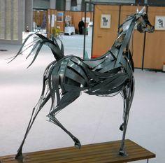 cheval Arabe métal