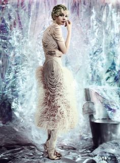 Carey Mulligan by Mario Testino for Vogue, May 2013