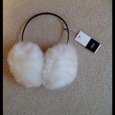 Asos Faux Fur Earmuffs White faux fur earmuffs with thin black headband. New with tags. ASOS Accessories