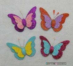 147414e4efc Aprende cómo hacer estas hermosas mariposas de foami ~ Mimundomanual Como  Hacer Mariposas