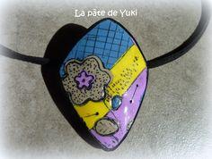 """Pendentif """"Voyage en Provence"""" en pâte polymère : Pendentif par lapatedeyuki"""