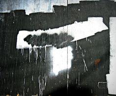 T - Jon Lander, found abstract street art, graffiti