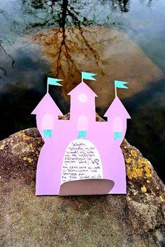 DIY Einladungskarten selber basteln l Kindergeburtstag l Mädchen Geburtstag l Prinzessin Schloss Karte
