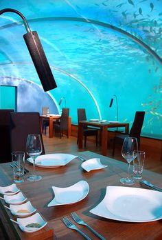 Hilton Maldives Resort & Spa's Underwater Restaurant
