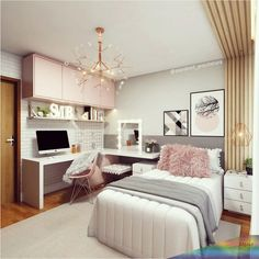 Do not panic, we give you some tips for a small bedroom with… Continue Reading → Study Room Decor, Cute Room Decor, Room Ideas Bedroom, Teen Room Decor, Small Room Bedroom, Home Decor Bedroom, Small Room Decor, Diy Home Decor, Home Room Design