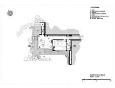 Casa La Petra. Planta nivel bajo