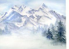 watercolor snow - Google Search