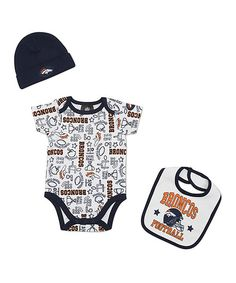 25e656e60 Take a look at this White Denver Broncos Layette Set - Infant I bought at  zulily