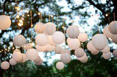 outside hanging lanterns