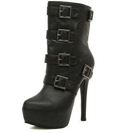 Platform Stilettos, High Heels Stilettos, Bootie Boots, Shoe Boots, Ankle Boots, Rock Boots, Cheap Shoes Online, Wholesale Shoes, Black High Heels